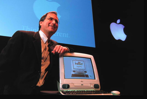 Cementing his comeback as Apple's CEO, Steve Jobs introduced the colorful and playful iMac in 1998. Designed by Jonathan Ive, the iMac was dramatically different than any previous personal computer. It was also the first to include USB ports as standard.