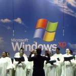 "Choir sings ""America the Beautiful"" during Windows XP launch"