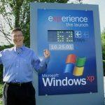 Bill Gates hold Windows XP gold code