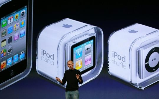 Just when you thought it couldn't get any smaller. In 2010, Steve Jobs announced the new iPod Nano -- small enough to fit on your wrist, but sporting long battery life and a multi-touch screen. It's not clear how Apple will improve this iPod.