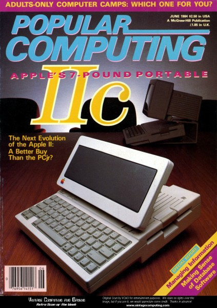 Billed as the portable Apple II, the IIc was the last Apple II before Jobs left Apple.