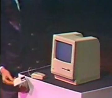 The demonstration that changed the world. When Steve Jobs popped in that floppy disk to boot up the Macintosh in 1984, it set the standard in personal computing for a decade. The Macintosh was the first commercially successful PC to feature a mouse, graphical user interface and semi-affordable price tag of $2,495 US.
