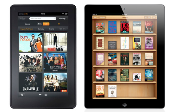 Apple Ipad Vs Kindle: How Does Amazon Kindle Fire Compare To IPad 2? [chart]