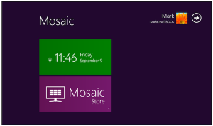 Imitate Windows 8 with Mosaic Desktop