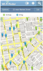Wi-Fi Finder for Android and iOS hunts down hotspots