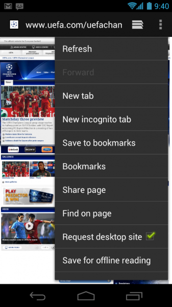Android 4 gives much more control over the web browser than does Gingerbread.