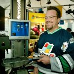 Microsoft chose actor Tom Arnold as its spokesman for Windows XP Media Center Edition, which officially launched Oct. 29, 2002. [Microsoft]