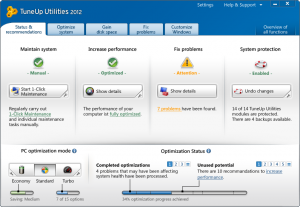 Tuneup Utilities 2012 improves laptop battery performance