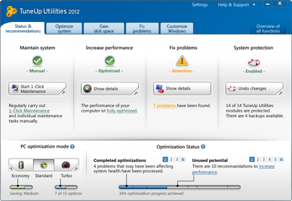 TuneUp Utilities 2012 review