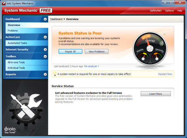 Iolo System Mechanic Free Just Enough Tools For The Price Betanews