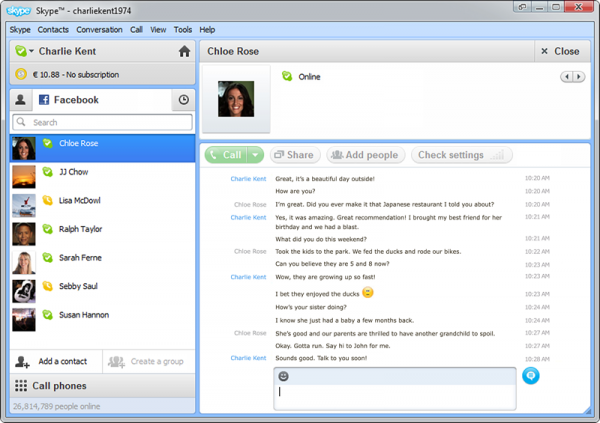 New Skype betas add Facebook video chat