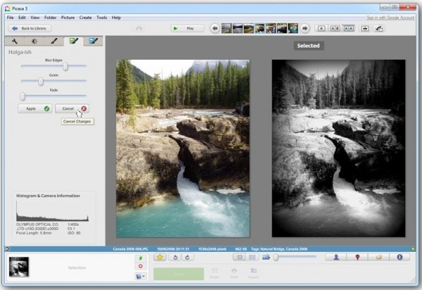 google picasa 3 9 adds 27 photo effects side by side editing