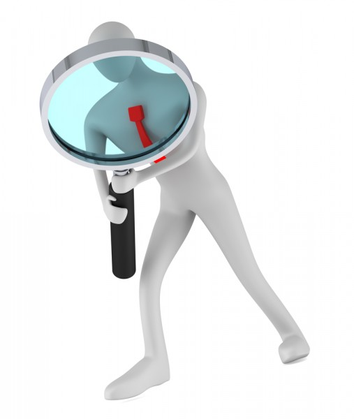 Computer Magnifying Glass Security Information Data Stock ...