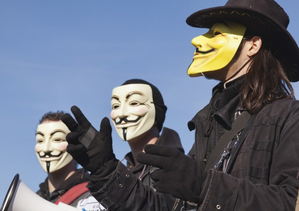 Guy Fawkes Anonymous hackers