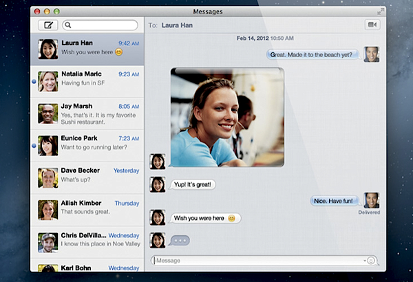 how to send text messages from macbook pro