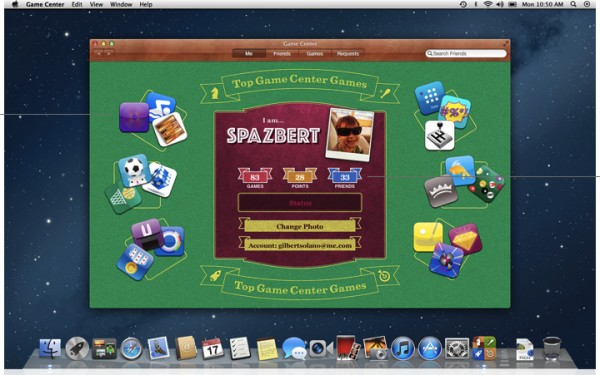 Game Center brings to Mac OS X capabilities already available to iOS 5 users. Everything hinges on the user's Apple ID, which lets other games know you're online and is identity for purchasing as well as playing games. Will this finally turn the Mac into a gaming platform? Call me skeptical.
