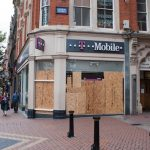 T-Mobile store shuttered closed