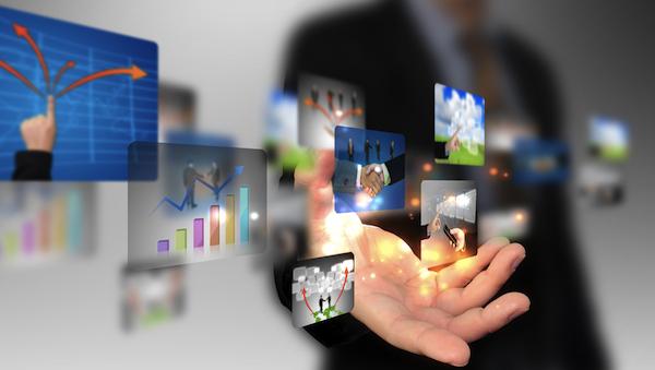 social cloud business enterprise hand
