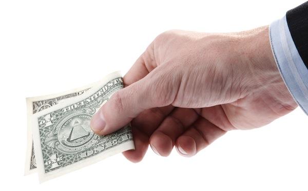 cash dollar hand