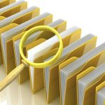 files folders magnifying glass security scanning antivirus