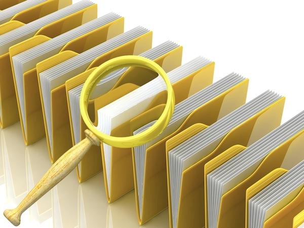files folders magnifying glass security scanning antivirus