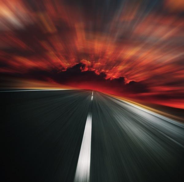 speed fast highway