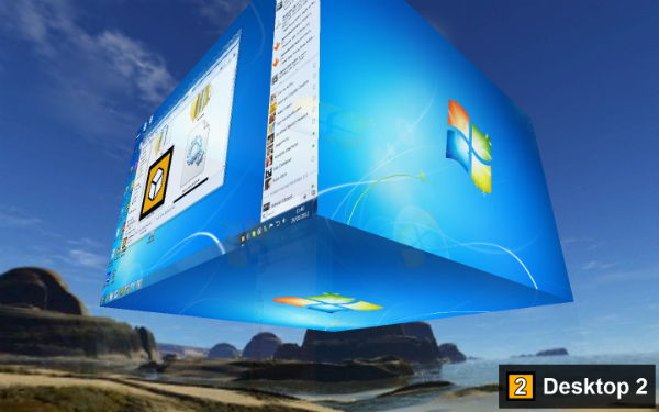 3d Virtual Desktop Desktop Into a 3d Virtual