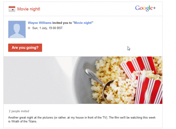 Google+ Event