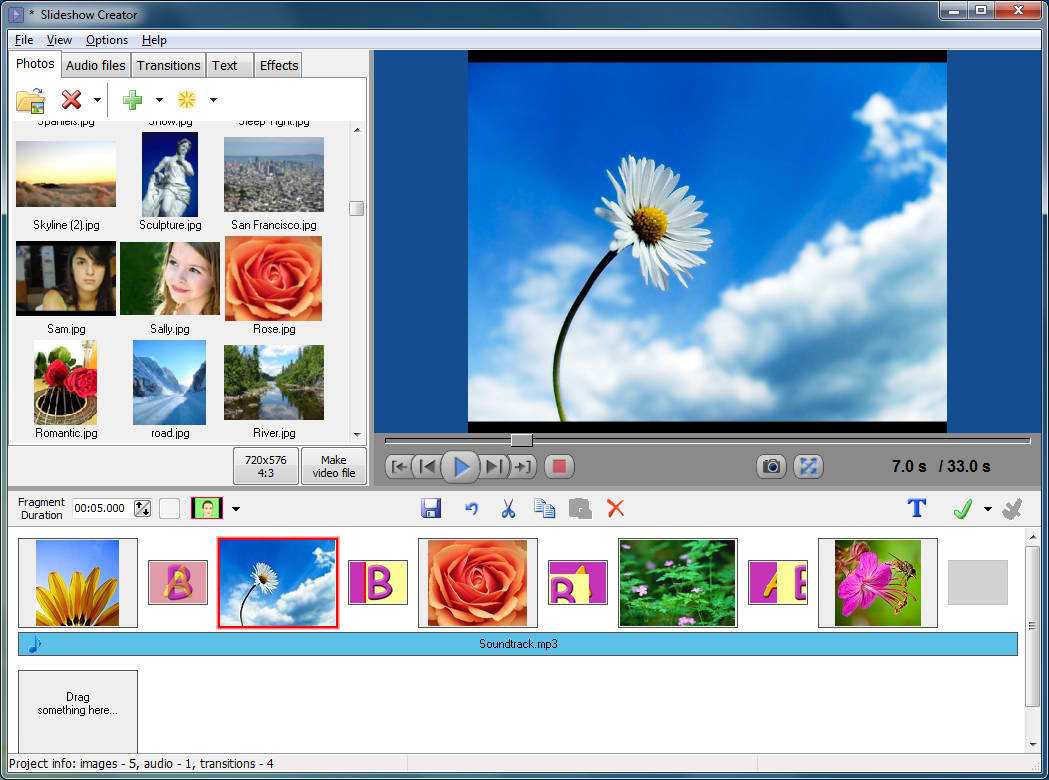 Slideshow creator turns your pics into vibrant videos for Grafica 3d gratis