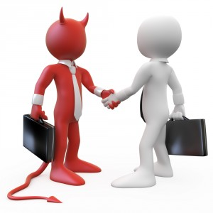 Illustration de deux personnages se serrant la main