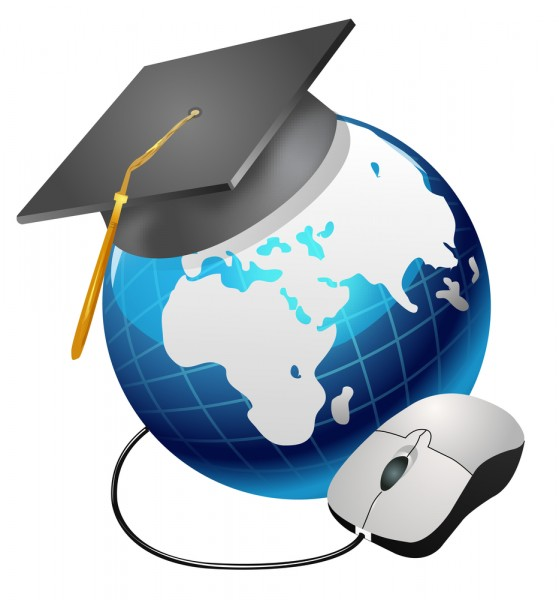 graduation cap globe mouse education