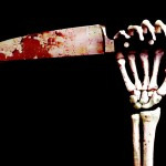 knife blood skeleton