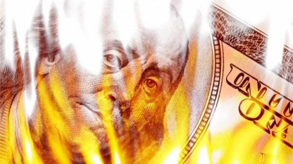 money cash burn fire