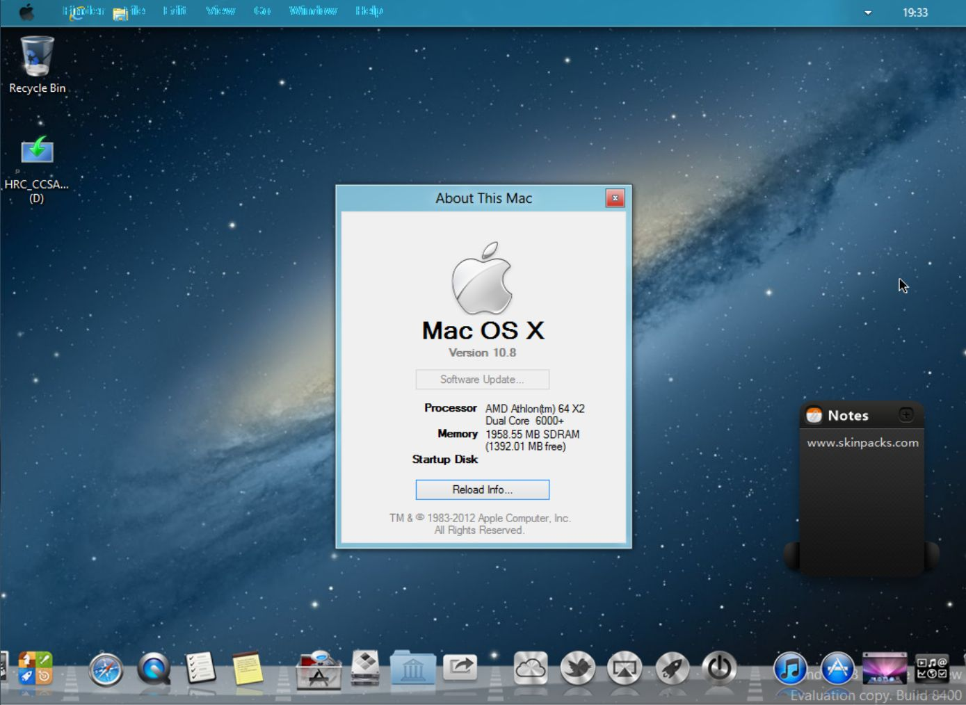 Transform windows 8 into mac os x mountain lion for Innenarchitektur mac os x