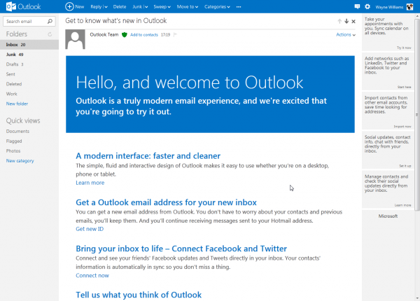 Microsoft relaunches Hotmail as Outlook