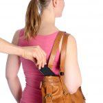 pickpocket phone stolen steal purse woman