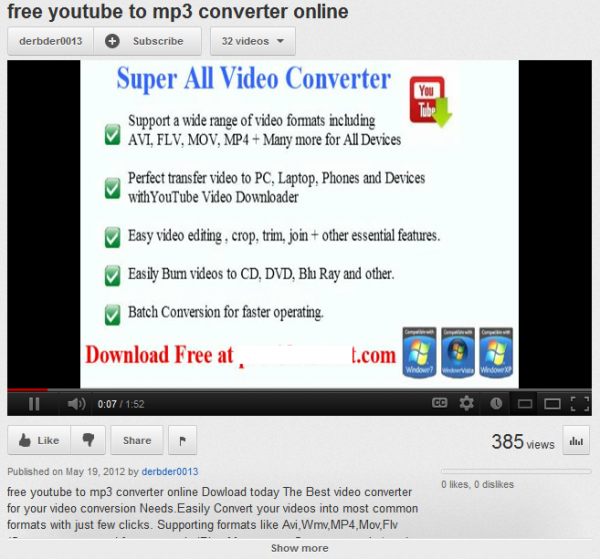 Scam sites lure victims with fake YouTube-to-mp3 converters