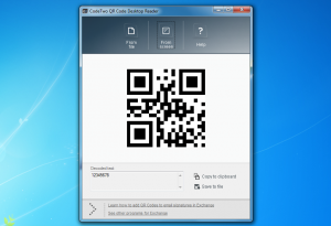 Yes, you can read QR Codes on Windows
