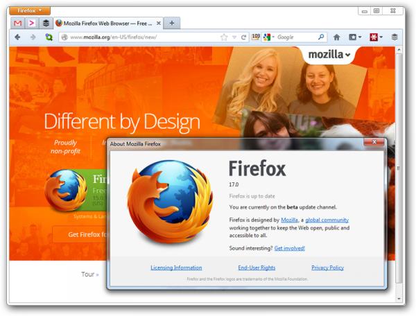 Firefox 17 Resmi Diluncurkan, Built-in Facebook Messenger Dan Social API
