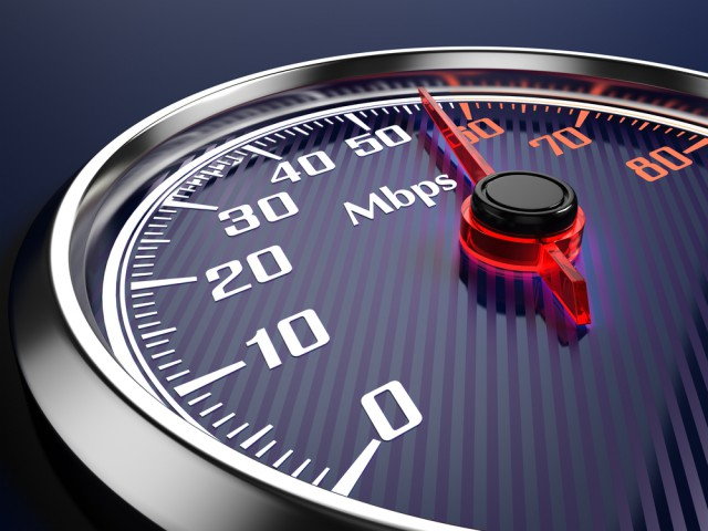 Internet speed fast mbps speedometer