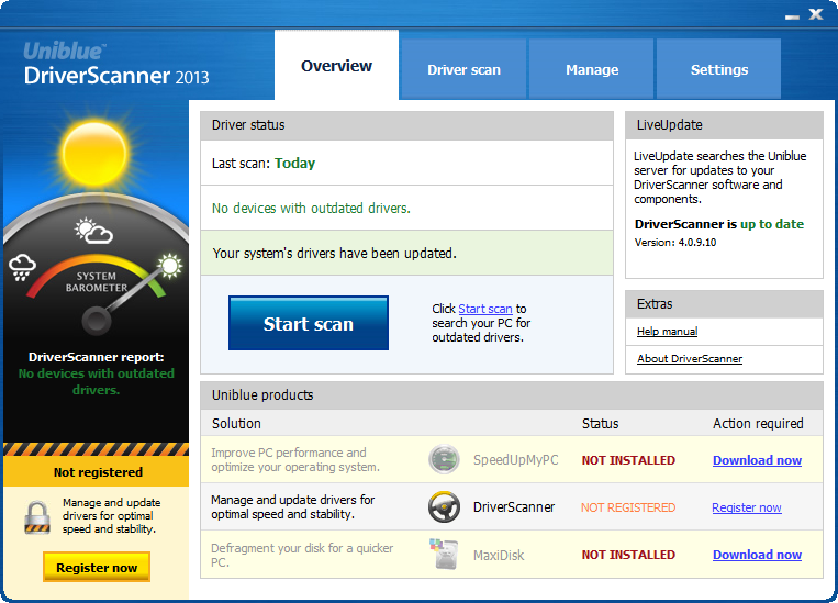 Uniblue Driver Scanner 2012 With Key Win7 Compatible