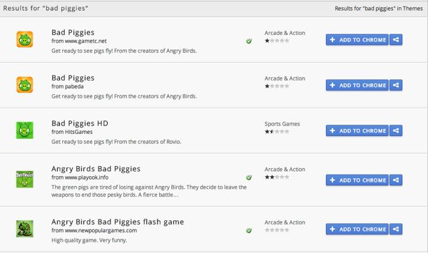 Beware of fake Bad Piggies apps on Chrome Web Store | BetaNews