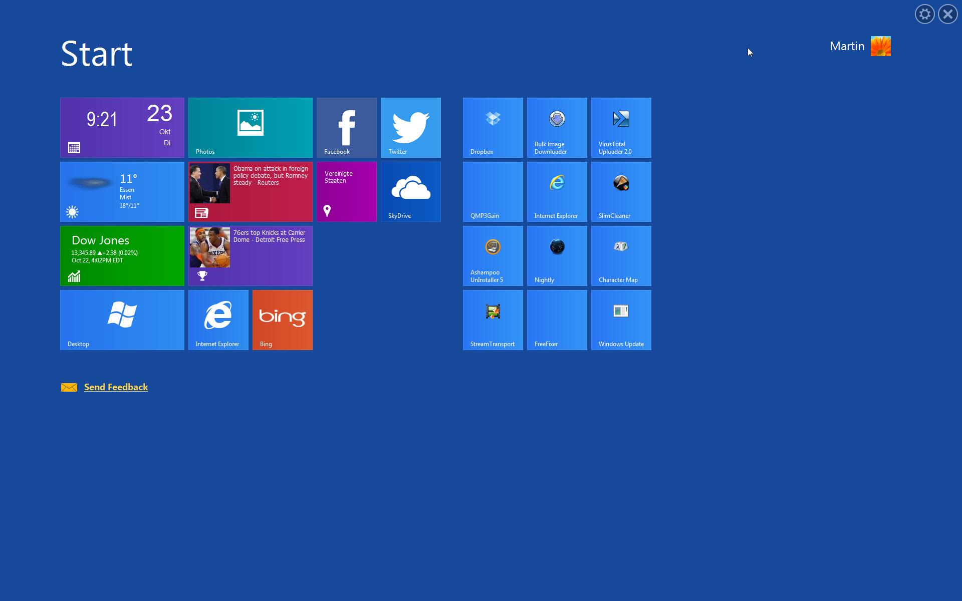 Как сделать интерфейс windows 8