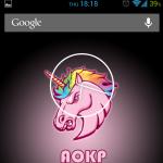 AOKP pink unicorn
