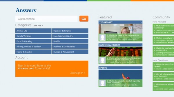 Answers launches exclusive Windows 8 app: This is more important ...