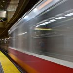 Boston T subway public transit train blur