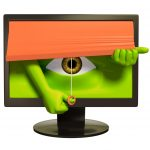 spy eye PC monitor privacy