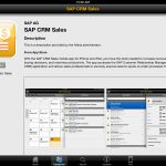 SAP Afaria app store page