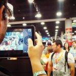 Comic-Con tablet user