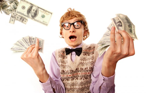 Geek nerd lottery cash money winner